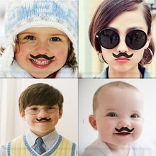 12pcs/set Costume Party Wedding Fake Mustache Moustache Funny Fake Beard Whisker Mood Pictures Props