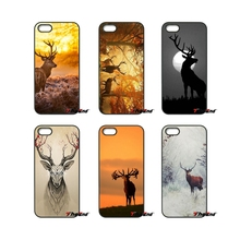 For HTC One M7 M8 M9 A9 Desire 626 816 820 830 Google Pixel XL One plus X 2 3 Lovely cute wild deer sunset Fashion Phone Case