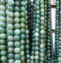 Wholesale Green  Stone Round Shape Natural Stone Beads For Jewelry Making DIY Bracelet 4mm 6mm 8mm 10mm 12mm Strand 16''