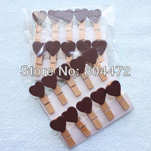 600 Brown Valentine Love Heart Wooden Pegs Paperclips for Home Wedding Decor|Gift wrapping Packaging | any Craft projects 1244