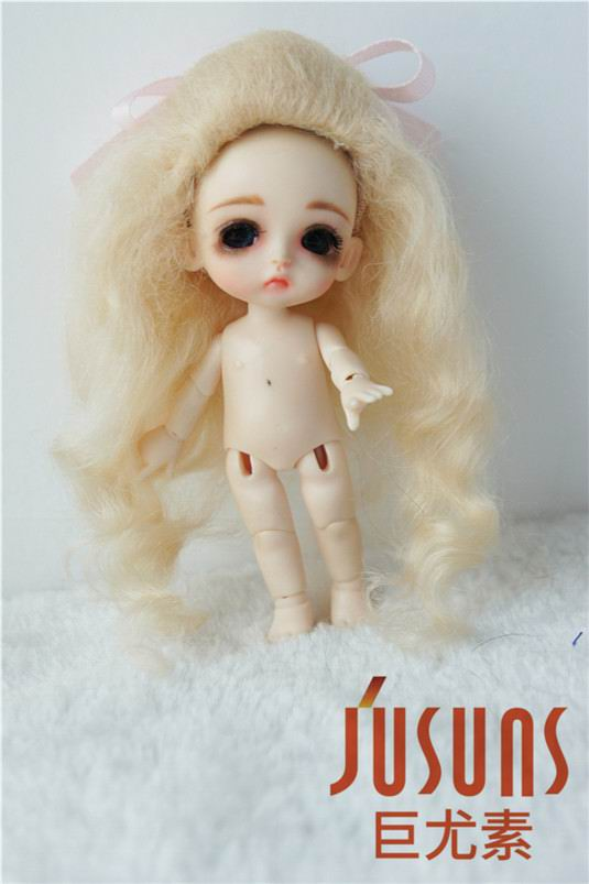 JD327 Lati white doll wigs 3-4inch  tiny dolll cute curly mohair BJD doll accessories<br>