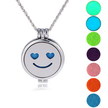Laughter expression Colorful spherical Can add perfume Round pendant necklace 7 pcs ball+1 pcs necklace 1 set(China)