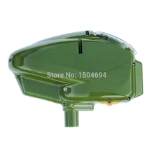 Paintball Motorized Electronic Loader Tournament Grade Performance 180 Rounds Capacity-Green(China)