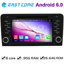2 din android 6.0 octa core car audio dvd player for AUDI A3 2003 - 2011 Audi S3 RS3 RNSE-PU with car gps autoradio tv Radio BT(China)
