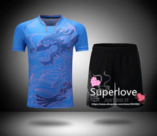 Mens/Masculino Sports Dragon Badminton/Table Tennis Clothes Suits Training/Running Jersey/Shirt/Shorts/T shirts For Homme/Hombre