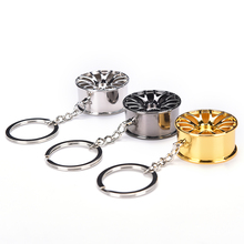 2017 New Design Cool Luxury metal Keychain Car Key Chain Key Ring creative wheel hub chain For Man Women Gift