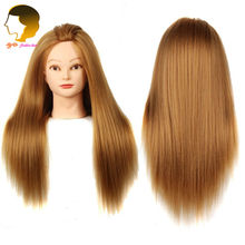 Big Sale Wig Head Mannequins Hairdressing Head Doll Dummy Hairstyles Long Hair And Natural Mannequin Head For Makeup Practice