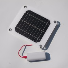 BUHESHUI Portable Solar Charger 5W Solar Panel Chager 5V USB Output Power Supply Outdoor 2pcs/lot New High Efficiency