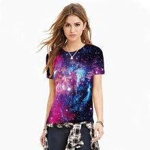Women Man T Shirt Star Sky digital printing Short Sleeve T-shirts Fitness Women Clothes 2017 Summer Punk O-neck T shirts