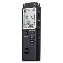 USB Voice Recorder 8GB with LCD screen Time Display Dictaphone/MP3 player Handheld Professional Portable digital audio recorder(China)