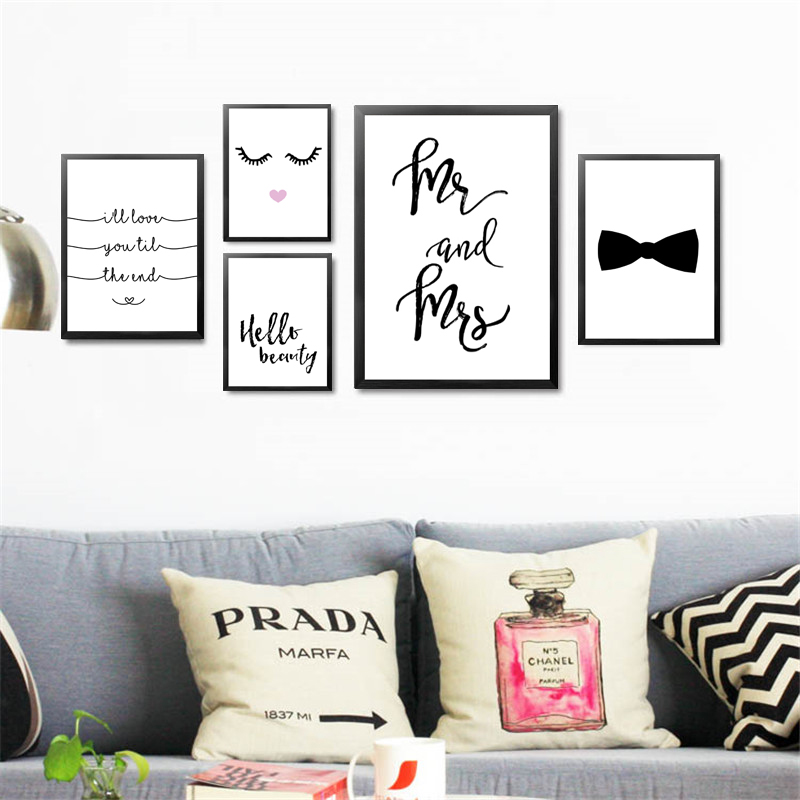 Mr-Mrs-Love-Wall-Picture-For-Room-MakeUp-Beauty-Eyelash-Decorative-Painting-Print-Poster-Canvas-Painting (1)