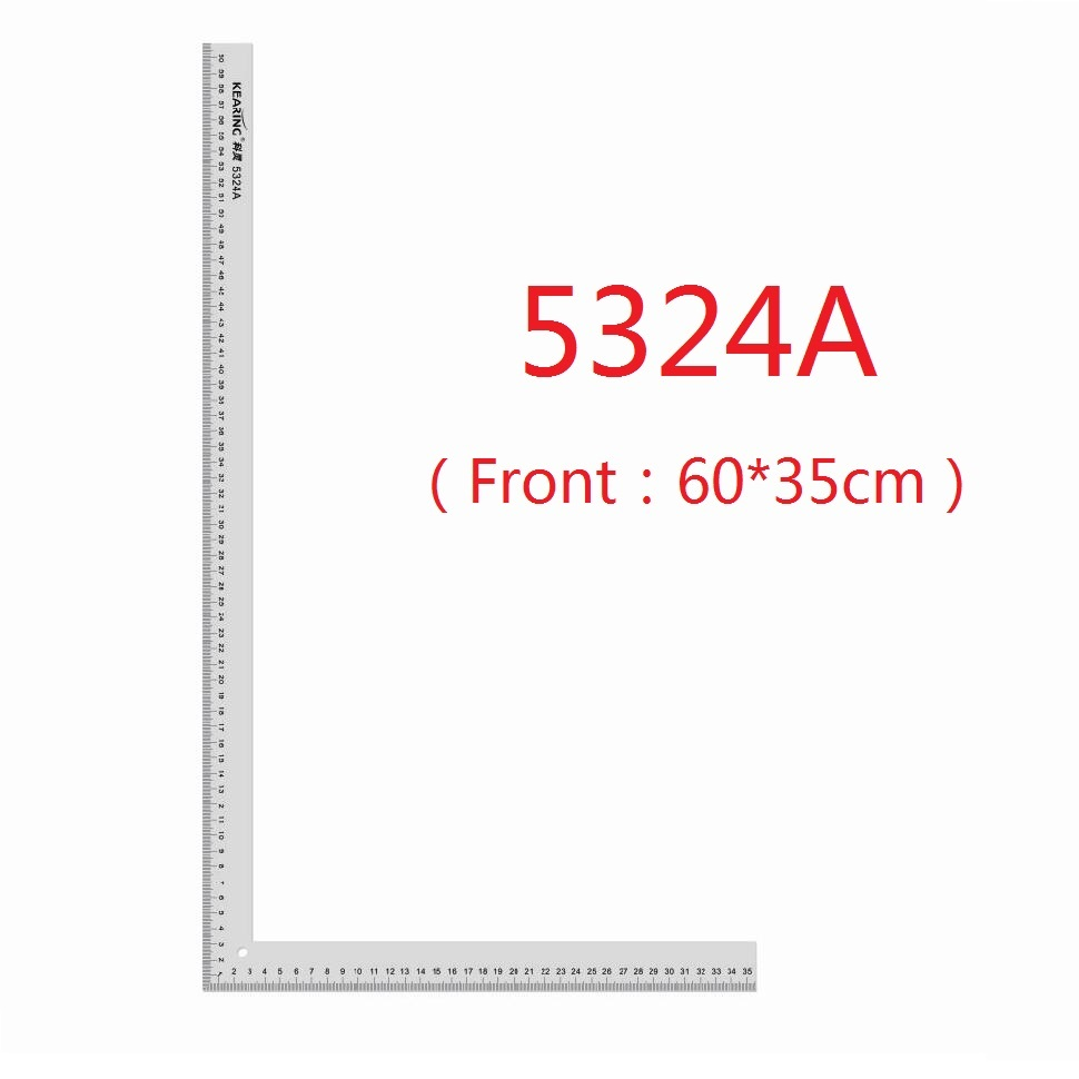 Metal Right Angle Ruler #5324A (60*35cm), #5124A (24*14 Inch)<br>