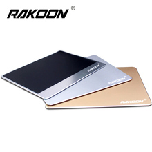 Rakoon Aluminium Alloy Mouse Pad 3 Sizes Gaming Mouse Mat Creative Metal Mousepad For LOL