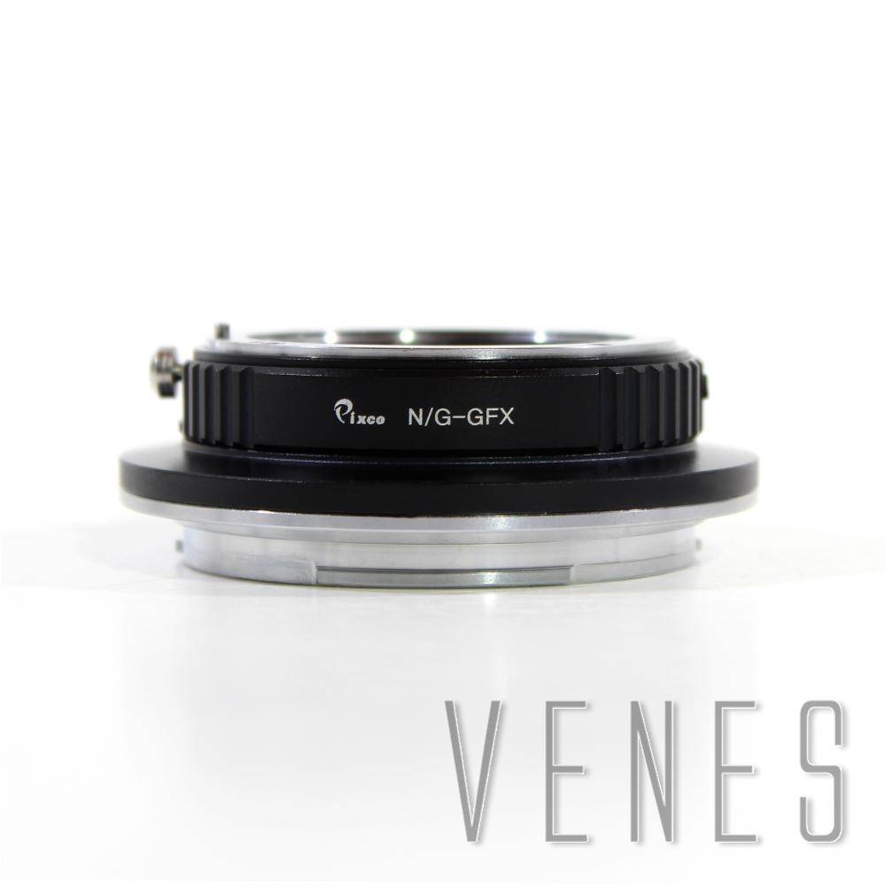Pixco N/G-GFX Lens Adapter Suit for Nikon G Mount Lens to Fujifilm G-Mount GFX Mirrorless Digital Camera such as GFX 50S