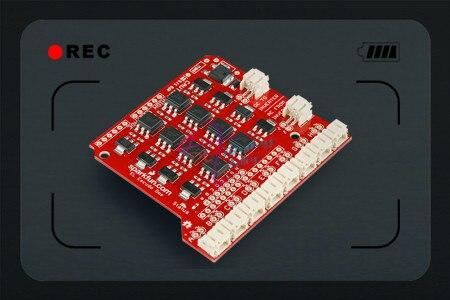 Sparkfun 100% Original opto-isolated EL Escudo Dos Shield Drive Board for controlling 8 EL wire Compatible with Arduino - Red<br>