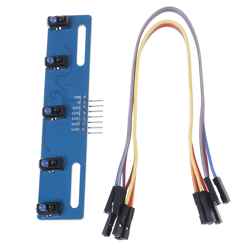 High Quality TCRT5000 KIT 5 Way/road IR Photoelectric Switch Barrier Line Track Module 7