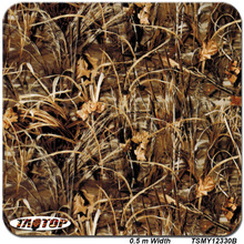 TSMY12330B 0.5m *2M Popular camo grass hydro dipping pva film hydrographic film  water transfer printing film