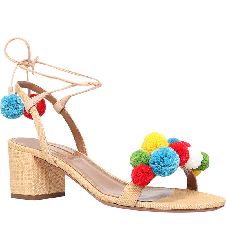 Shoes Woman Gladiator Sandals Women Summer Lace Up Denim Sandals Red 6CM Thick Heels Open Toe Fashion Women Sandals FS-0043<br>