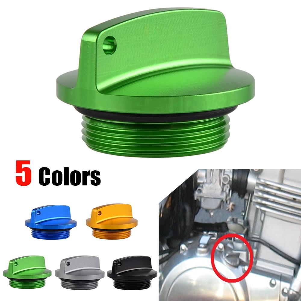 Gold Billet CNC Oil Filler Cap For Kawasaki Ninja 500 EX 500R 00-06 07 08 09