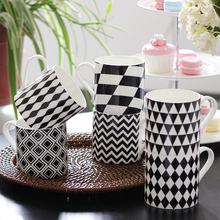 brand high quality ceramic bone China coffee mug christmas gifts creative cups and mugs office home drinkware glazed cup striped