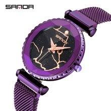 00b0d7b8304 SANDA 2019 Frete Grátis Relógio das Mulheres Famosa Marca de Moda Relógio de  Luxo Em Aço