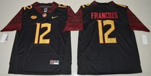 2016 NIKE Florida State Seminoles Deondre Francois 12 College Ice Hockey Jerseys - Black Size S,M,L,XL,2XL,3XL(China)