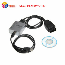 Newest V1.5a ELM327 Metal USB Oobd2 obdii CAN-BUS Scanner elm 327 Code Reader free shipping