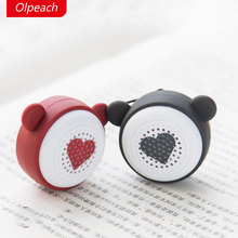 Olpeach lovers Bluetooth speakers mini portable wireless creative gifts mobile phone self timer stereo(China)