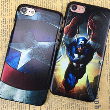 Marvel Super Hero Luxury PC Hard Phone Cases For iPhone 5 5S SE 6 6S 7 4 4S Avengers Back Cover Case Batman Iron Man