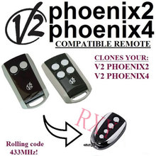 copy V2 Phoenix2, V2 Phoenix4 rolling code remote control .433.92mhz with battery