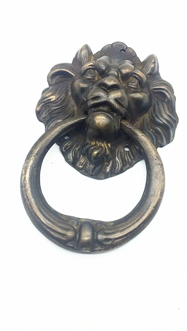UNILOCKS Large Antique Brass Lion Doorknocker Door Knocker Lionhead Doorknockers Lions Home Decor<br><br>Aliexpress