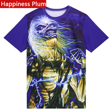 Happiness Plum Iron Maiden T Shirt 3D T-shirt Eddie Iron Man T Shirt Men Woman 3d Printed T-shirts Anime Fashion Tshirt Funny