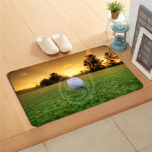 #q298r Custom  golf ball  sport Doormat Home Decor Door mat Floor Mat Bath Mats foot pad U-298rt-718u
