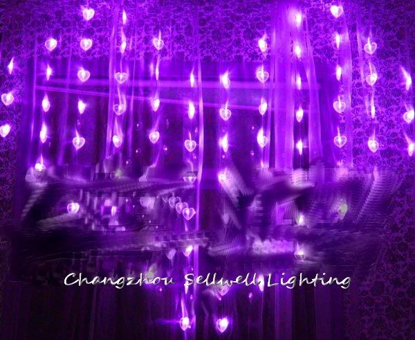 NEW!LED holiday light wedding celebration showcase decoration 1.6*2m bead curtain lamp H305<br>