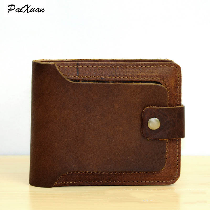 Cattle split leather wallet men Famous Brand men purses quality lether Brown Business Wallet walet carteira fashion cuzdan<br><br>Aliexpress