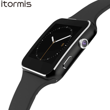ITORMIS X6 Bluetooth Smart Watch Smartwatch Curve Touch Screen Phone Sport Fitness Pedometer Camera for Android PK DZ09 GT08 A1(China)