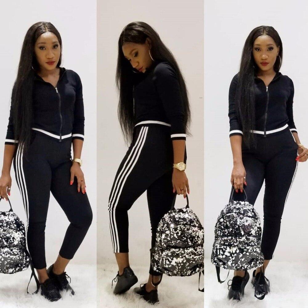 Zwei Stück Set Trainingsanzug Frauen Herbst Mode Asymmetrische Split Sweatshirt und Kordelzug Hosen Casual Schweiß Anzüge Outfits Schwarz
