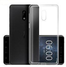 Original case For Nokia 3 5 6 7 8 Case Silicone Cover For Nokia3 Nokia6 Nokia5 Nokia7 Nokia8 Phone Transparent Clear Soft case(China)