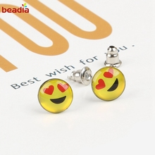 New Design 36 Pairs Emoji Funny Happy Face Earring for Women Girls Trendy Ear Jewelry Gifts(China)