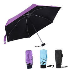 Creative Mini Folding Umbrella Super Light Cute Compact Folding Foldable Pockets Umbrellas Rain UV Protective Women Kids Gift(China)