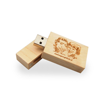 (Over 10pcs free logo) Custom Wooden pendrive DIY logo usb2.0  flash drive 4G 8G 16G 32G memory stick pen drive for wedding gift
