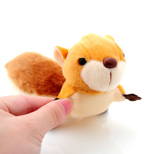 1 Pcs Random Color 8cm Kawaii Lovely Key Bag Strap Plush Toys Large Tail Squirrel Pendant Kids Toys