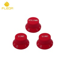 FLEOR 30PCS/Pack Electric Guitar Speed Control Tone Volume Knobs Strat 2T1V For Guitar Parts Replacement ,Red(China)