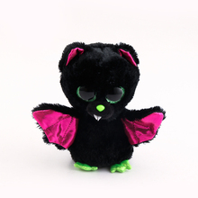 Ty Beanie Boos Original Big Eyes Plush Toy Doll Child Brithday 10 - 15cm Black Bat TY Baby For Kids Gifts(China)