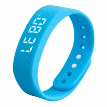 New Style Women Men 3D T5 LED Display Sports Gauge Workout  Fitness Gym Bodybuilding Bracelet Step Tracker Pedometer New Style