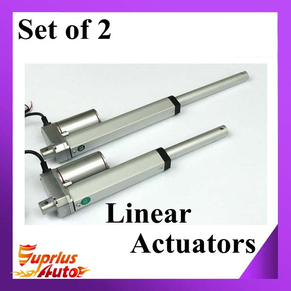 Set Of Two 12V electric linear actuator,300mm/ 12 inch stroke, 900N/90KG/198LBS load small linear actuator<br>