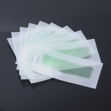 2 Sides Use roll on hair Remover Wax strips Depilatory Wax Epilator Paper for Face / Legs 15 Pcs/pack