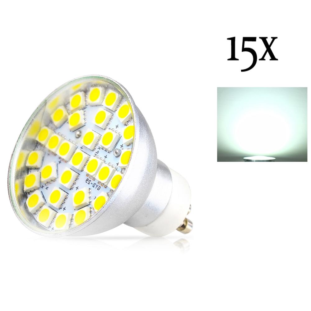15X Aluminum High Bright Energy Saving AC195-240V SMD5050 LED Spotlight  GU10 LED Bulb 4W LED Bulbs Light Spotlight High quality<br>