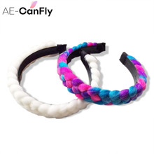 AE-CANFLY Fashion Women Yarn Hairband Braid Alic Band Headband Hair Accessories HG297(China)