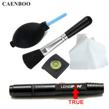 CAENBOO LENSPEN Clean Rubber Air Blower Dust Cleaner Camera Cleaning Lens Pen Brush Wipe Cloth Kit For Canon Nikon Sony Hot Shoe